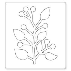 Sizzix Bigz Die - Branch w/Leaves Leaf Crafts, Flower Crafts, Diy And Crafts, Paper Crafts, How To Make Paper Flowers, Giant Paper Flowers, Felt Flowers, Leaf Template, Flower Template