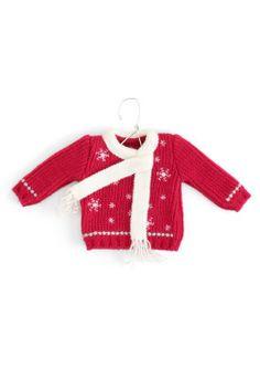 Snowflake Sweater Ornament - CJ Banks