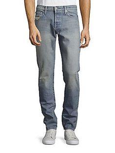 Baldwin Cotton-Blend Faded Jeans - Blue - Size 3