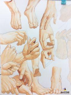 손 그리기 수업과정!![손 채색해보기][인천구월애니스타미술학원] : 네이버 블로그