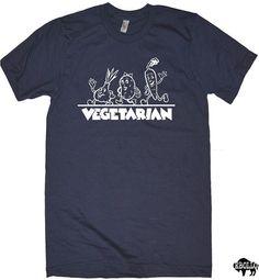 Vegetarian Mens Womens T-shirt - Funny T shirt Cool Shirt  Graphic Tee Shirt Gift Tshirt on Etsy