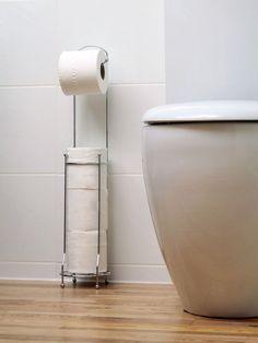 4 Rollo Permanente Papel Higiénico Cromo Dispensador Almacenamiento Soporte
