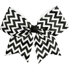 Chassé Chevron Performance Hair Bow ($4.95) ❤ liked on Polyvore