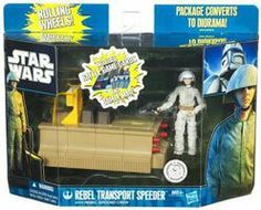 Star Wars Clone Wars 2011 Exclusive Vehicle Action Figure Pack Rebel Transport Speeder with Rebel Ground Crew by Hasbro Toys. $15.50. Vehicle comes with Rebel Ground Crew figures and Galactic Battle Game card.. Star Wars Clone Wars 2011 Exclusive Vehicle. The Rebel Alliance ground crew prepares for battle. The Rebel fighter pilots are getting ready to attack the Empires Death Star battle station. In the busy Yavin base, the ground crew races to complete their allimporta...