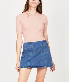 GP Tees RIB SKIVVY CREW T-SHIRT BLUSH   Short Sleeve T-Shirts   T-Shirts   Clothing   Shop Womens   General Pants Online