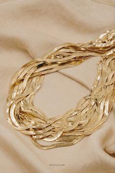 18K Gold Filled Herringbone Chain