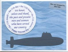 Submarine Veteran's Day by scootsv - Cards and Paper Crafts at Splitcoaststampers