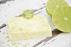 Fresh lime soap: add lime essential oil (or citrus) and lime zest to white base soap