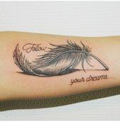 40 impressive feather tattoos ideas for men and women diy tattoo images - ta Back Tattoos, Forearm Tattoos, Body Art Tattoos, New Tattoos, Girl Tattoos, Small Tattoos, Tattoos For Guys, Tattoos For Women, Tatoos