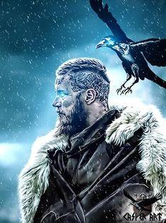 Ragnar a descendant of Oden. Ragnar a descendant of Oden. Ragnar a descendant… – Norse Mythology-Vikings-Tattoo Viking Warrior, Viking Power, Art Viking, Viking Symbols, Viking Shop, Ragnar Lothbrok Vikings, Lagertha, Vikings Tv Show, Vikings Tv Series