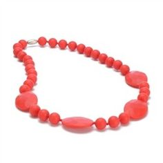 Chewbeads // Chewbeads Perry Necklace - Cherry Red
