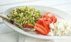 Corn and Orzo Salad with Arugula Pesto