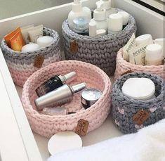 Handmade Decorations, Handmade Crafts, Crochet Home, Knit Crochet, Crochet Dinosaur, Crochet Storage, Crochet Basket Pattern, Crochet Teddy, Crochet Patterns For Beginners