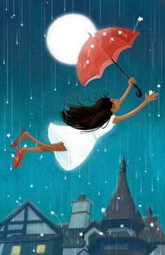 'The Red Umbrella' - by Christina Forshay ~