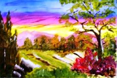 How To Paint Scenic Scenes Kindle Book - This book teaches 11 scenes. You will learn how to paint them step by step. You can paint these scenes on cards, canvas, wood, and another surfaces that you like.   Students learn: Farm Scene, Forest Scene, Stone Bridge Scene, Still Life Floral, Beach Girl Scene, Country Day Scene, Winter Scene, Skaters Scene, Rock Beach Scene, Pier Day Scene, and Fishing Cove Scene. All are taught step by step.   Book is $9.99.   http://www.amazon.com/dp/B00CMR3G96