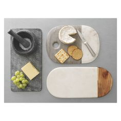 AGRA Marble and wood serving board L40 x W19cm | Buy now at Habitat UK