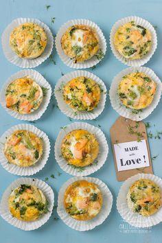 mini, muffinki, frittaty, jajka, obiad, lunch, do pracy, do szkoły