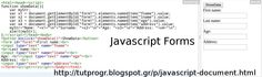 #Javascript #document #Forms #Programming #Code #Picture : http://tutprogr.blogspot.gr/p/javascript-document.html