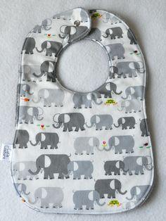 Gray Elephants Bib