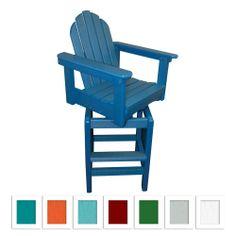 Miramar Adirondack Swivel Bar Stool made by Lakeland Outdoor Furniture >> Love that this swivels!