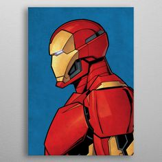 """Beautiful """"Iron Man"""" metal poster created by Marvel . Our Displate metal prints will make your walls awesome. Iron Man Avengers, Avengers Comics, Comics Spiderman, Avengers Characters, Marvel Comic Character, Dc Comics, Avengers Actors, Avengers Humor, Black Characters"""