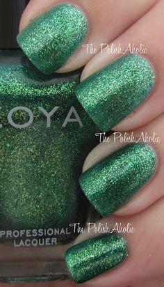 Zoya - Ivanka   ZP507   Sparkle Collection Summer 2010   April 1, 2010   Mermaid green sparkling metallic