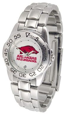 NCAA Arkansas Razorbacks Ladies' Sport Steel Watch