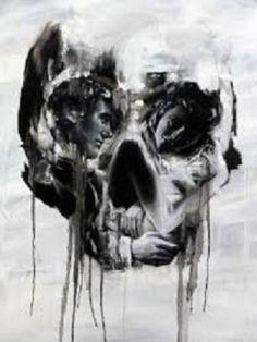 "Optical illusion ""LOVE never dies"""