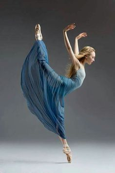 Classical ballet dancer, Nastia Alexandrova, in a blue romantic tutu, in the studio on a gray background. Photograph taken in San Francisco by Rachel Neville. Shall We Dance, Just Dance, Tutu, City Ballet, Dance Like No One Is Watching, Dance Movement, Dance Poses, Ballet Photography, Ballet Beautiful