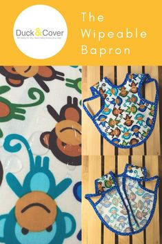 Looking for a bib that cleans up quickly and provides full coverage?  Save on laundry with this laminated cotton bapron.  It has tie backs to keep it in place and can be quickly wiped clean following meals.  The monkey print is the perfect gender neutral Stocking Stuffers For Baby, Baby Stocking, First Birthday Gifts, First Birthdays, Best Baby Shower Gifts, Baby Gifts, Waterproof Bibs, Baby Cover, Trendy Kids