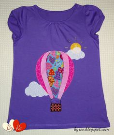 By Ro: Camiseta de patchwork: GLOBO Y NUBES