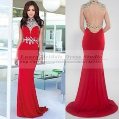 Cheap dress tango, Buy Quality dress forms for sewing directly from China dress pullover Suppliers: Vestidos De Gala Formal Long Backless Mermaid Prom Dress Sexy Elegant High Neck Red Prom Dress 2015 Vestido Festa Format