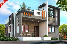 House Balcony Design, House Outer Design, Single Floor House Design, Modern Small House Design, House Outside Design, Modern Exterior House Designs, Village House Design, Latest House Designs, Bungalow House Design