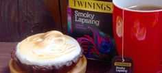 Smoky Lapsang Chocolate Tarts with Marshmallow Meringue Chocolate Tarts, Cuppa Tea, Tea Recipes, Iced Tea, Meringue, Recipe Using, Teas, Marshmallow, Birthday Cake
