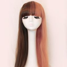 Dolly Pink and Brown Split Wig
