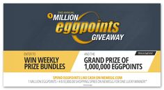 NewEgg 2nd Annual 1 Million EggPoints Giveaway (6 winners) – Ends August 28th #sweepstakes https://www.goldengoosegiveaways.com/2nd-annual-1-million-eggpoints-giveaway-sweepstakes-6-winners-ends-august-28th?utm_content=buffera2b7b&utm_medium=social&utm_source=pinterest.com&utm_campaign=buffer