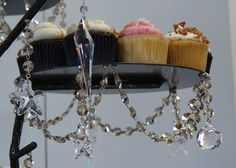 Teak Magnetic Crystals - Wedding Cupcake Stand