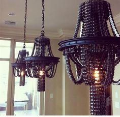 Retro industriellen Metall Stil Schmiedeeisen blockchain Pendelleuchte Restaurant Licht Bars Licht Balkon Licht Freies Verschiffen(China…