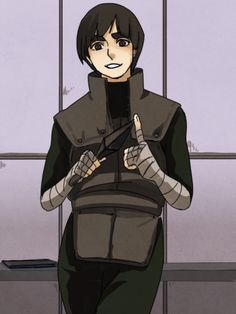 Rock Lee // Naruto doesn't look totally high. Wow.