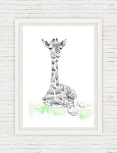 Neutral Nursery Decor, Set of 3 prints, Baby Animals Nursery, Watercolor Painting Safari Wall Art Watercolour Print New baby Gift Green Gray Set of 3 prints-   high quality fine art prints of my original watercolor painting. It is the work of a watercolor series Portraits of the Heart    Size paper: 14,8 × 21cm,5 4/5 × 8 1/4, A5 (with white borders) - 18.00 $  21 cm x 29,7 cm, 8 1/4 x 11.5/8, A4.(with white borders) - 36.00 $  29,7cm × 42cm, 11,69 × 16,54, A3(with white borders) - 72.00 $…