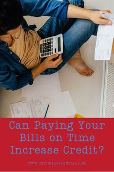 Can paying your bills on time increase credit? The short answer is yes, definitely. But there's a catch. Here's what you need to know. #payingbills #creditscore #credittips #creditadvice