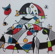 Menina moderna homenaje a Miró-4 SP634