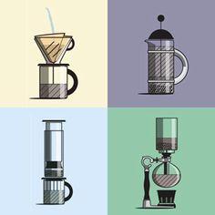 Excelente guía animada para hacer café