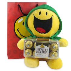 Birthday Hampers, Birthday Gifts, Ferrero Rocher Box, Paper Gift Bags, Smiley, Chocolates, Teddy Bear, Collections, Toys