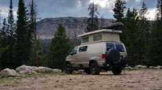 "van-life: ""Location: High Uinta Mountains, UT 2014 Make: 1999 Ford E-350 4x4 Diesel Sportsmobile """