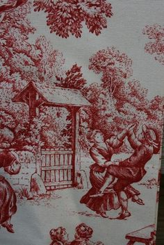 00 Toile de Jouy Camille Red