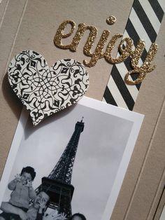 Sophiebio - It's So Scrap - Album Paris www.itssoscrap.ov... Stampin Up! mini album Typeset specialty / Passé à la presse  Tour Eiffel