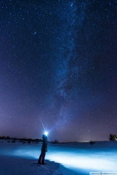 Plaisir d'hiver, nuit étoilée. Photo : Hugo Lacroix