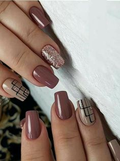 Classic nail designs & pictures for every woman in 2019 Want to wear the latest nail designs that you can copy now? Check out the different types of nail designs here # Matte Nail Art, Cute Acrylic Nails, Cute Nails, My Nails, Fall Nails, Summer Nails, Latest Nail Designs, Nail Art Designs, Simple Nail Designs
