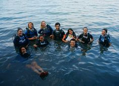 Our Outdoor Leader Semester Students learn to scuba dive in Panama.